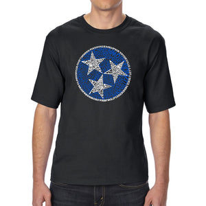 LA Pop Art Men's Tall Word Art T-shirt - Tennessee Tristar