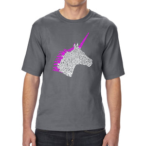 LA Pop Art Men's Tall Word Art T-shirt - Unicorn