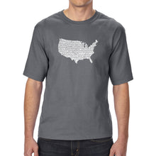 Load image into Gallery viewer, LA Pop Art Men's Tall Word Art T-shirt - THE STAR SPANGLED BANNER