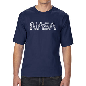 LA Pop Art Men's Tall Word Art T-shirt - Worm Nasa