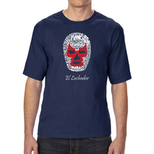 Load image into Gallery viewer, LA Pop Art Men's Tall Word Art T-shirt - MEXICAN WRESTLING MASK