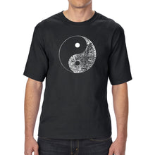 Load image into Gallery viewer, LA Pop Art Men's Tall Word Art T-shirt - YIN YANG