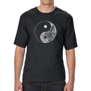 LA Pop Art Men's Tall Word Art T-shirt - YIN YANG