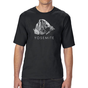 LA Pop Art Men's Tall Word Art T-shirt - Yosemite