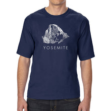 Load image into Gallery viewer, LA Pop Art Men's Tall Word Art T-shirt - Yosemite