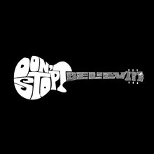 Load image into Gallery viewer, LA Pop Art Men's Word Art Hooded Sweatshirt - Don't Stop Believin'