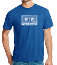 Load image into Gallery viewer, LA Pop Art Men's Premium Blend Word Art T-shirt - The 80's
