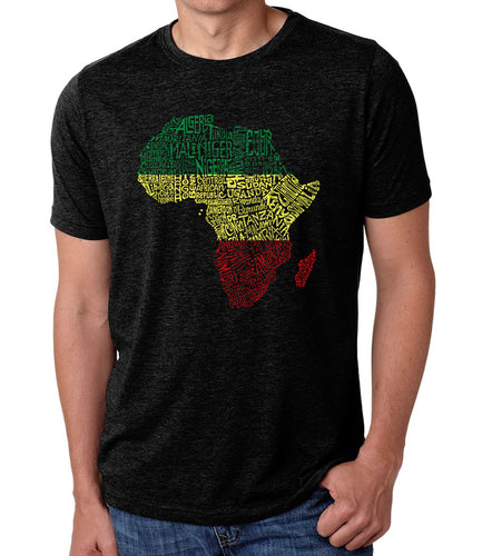 LA Pop Art Men's Premium Blend Word Art T-shirt - Countries in Africa