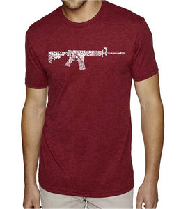 LA Pop Art Men's Premium Blend Word Art T-shirt - AR15 2nd Amendment Word Art