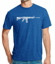 Load image into Gallery viewer, LA Pop Art Men's Premium Blend Word Art T-shirt - AR15 2nd Amendment Word Art