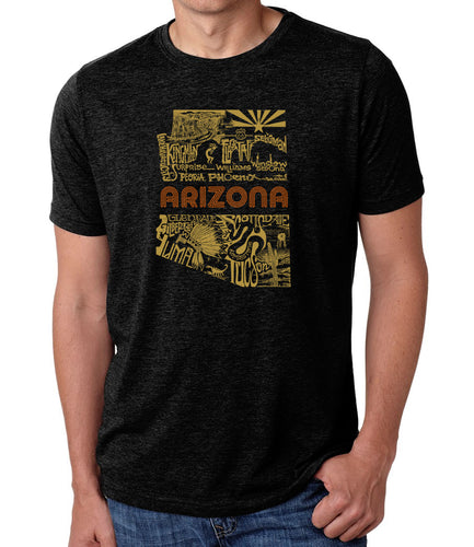 LA Pop Art Men's Premium Blend Word Art T-shirt - Az Pics