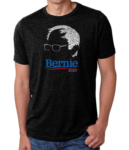 LA Pop Art Men's Premium Blend Word Art T-shirt - Bernie Sanders 2020