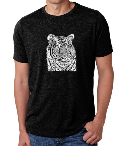 LA Pop Art Men's Premium Blend Word Art T-shirt - Big Cats