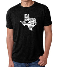 Load image into Gallery viewer, LA Pop Art Men's Premium Blend Word Art T-shirt - Everything is Bigger in Texas