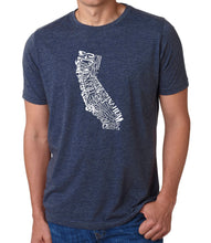 Load image into Gallery viewer, LA Pop Art Men's Premium Blend Word Art T-shirt - California State