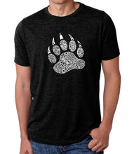 Load image into Gallery viewer, LA Pop Art Men's Premium Blend Word Art T-shirt - Types of Bears
