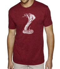 Load image into Gallery viewer, LA Pop Art Men's Premium Blend Word Art T-shirt - Types of Snakes