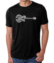 Load image into Gallery viewer, LA Pop Art Men's Premium Blend Word Art T-shirt - Country Guitar