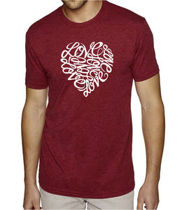 LA Pop Art Men's Premium Blend Word Art T-shirt - LOVE