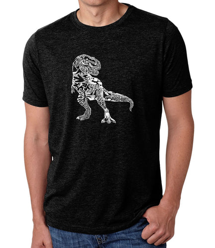 LA Pop Art Men's Premium Blend Word Art T-shirt - Dino Pics