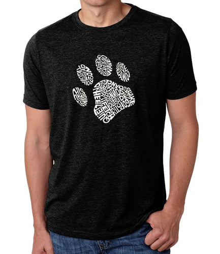 LA Pop Art Men's Premium Blend Word Art T-shirt - Dog Paw