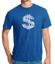 Load image into Gallery viewer, LA Pop Art Men's Premium Blend Word Art T-shirt - Dollar Sign