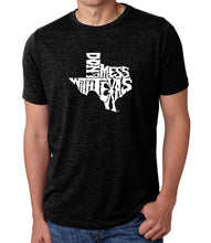 Load image into Gallery viewer, LA Pop Art Men's Premium Blend Word Art T-shirt - DONT MESS WITH TEXAS