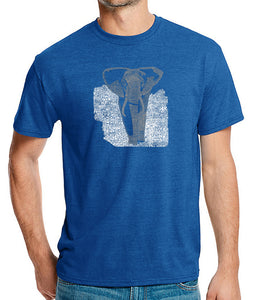 LA Pop Art Men's Premium Blend Word Art T-shirt - ELEPHANT