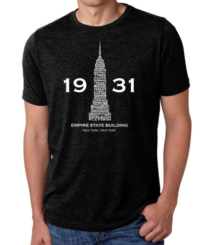 LA Pop Art Men's Premium Blend Word Art T-shirt - Empire State Building
