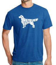 Load image into Gallery viewer, LA Pop Art Men's Premium Blend Word Art T-shirt - Golden Retreiver