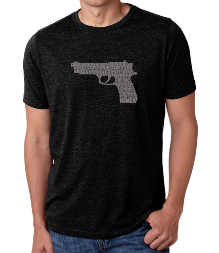 LA Pop Art Men's Premium Blend Word Art T-shirt - RIGHT TO BEAR ARMS