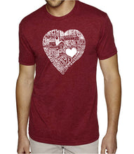 Load image into Gallery viewer, LA Pop Art Men's Premium Blend Word Art T-shirt - LOVE IN 44 DIFFERENT LANGUAGES