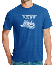 Load image into Gallery viewer, LA Pop Art Men's Premium Blend Word Art T-shirt - King of Spades