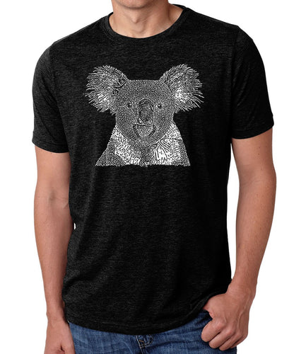 LA Pop Art Men's Premium Blend Word Art T-shirt - Koala