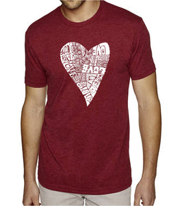 LA Pop Art Men's Premium Blend Word Art T-shirt - Lots of Love