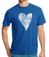 Load image into Gallery viewer, LA Pop Art Men's Premium Blend Word Art T-shirt - Lots of Love