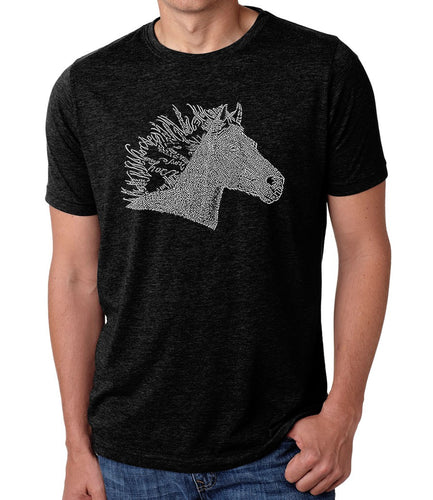 LA Pop Art Men's Premium Blend Word Art T-shirt - Horse Mane