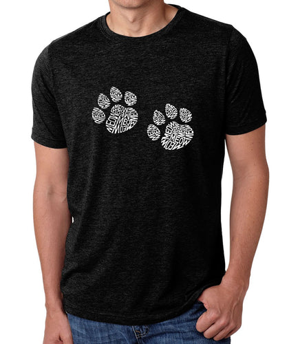 LA Pop Art Men's Premium Blend Word Art T-shirt - Meow Cat Prints