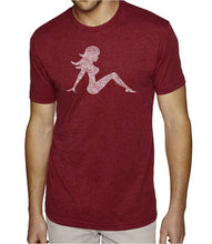 Load image into Gallery viewer, LA Pop Art Men's Premium Blend Word Art T-shirt - MUDFLAP GIRL