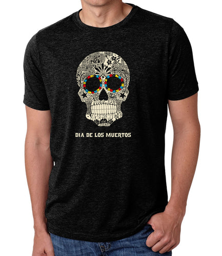 LA Pop Art Men's Premium Blend Word Art T-shirt - Dia De Los Muertos