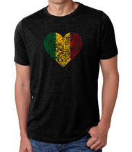 Load image into Gallery viewer, LA Pop Art Men's Premium Blend Word Art T-shirt - One Love Heart