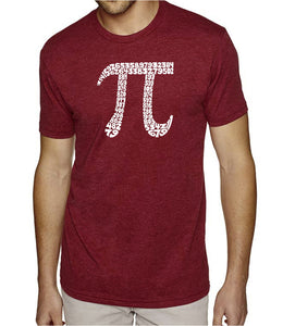 LA Pop Art Men's Premium Blend Word Art T-shirt - THE FIRST 100 DIGITS OF PI