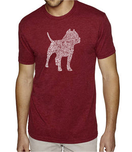 LA Pop Art Men's Premium Blend Word Art T-shirt - Pitbull