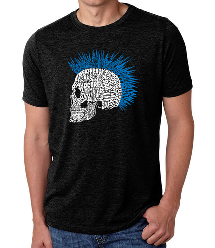 LA Pop Art Men's Premium Blend Word Art T-shirt - Punk Mohawk