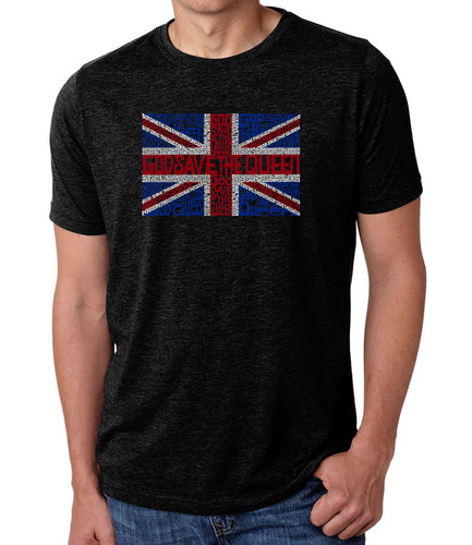 LA Pop Art Men's Premium Blend Word Art T-shirt - God Save The Queen
