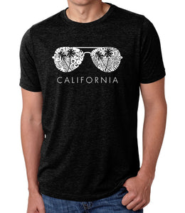LA Pop Art Men's Premium Blend Word Art T-shirt - California Shades