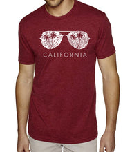 Load image into Gallery viewer, LA Pop Art Men's Premium Blend Word Art T-shirt - California Shades