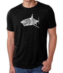 LA Pop Art Men's Premium Blend Word Art T-shirt - SPECIES OF SHARK