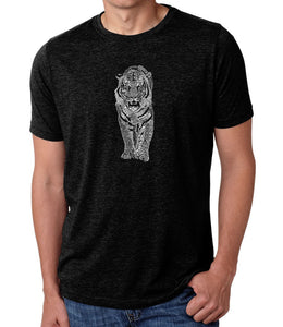 LA Pop Art Men's Premium Blend Word Art T-shirt - TIGER