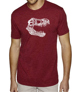 LA Pop Art Men's Premium Blend Word Art T-shirt - TREX